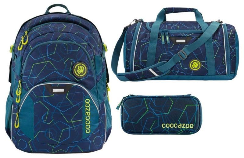 coocazoo JobJobber2 Rucksack-Set 3tlg Laserbeam Blue schulmaeppchen