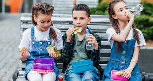 3 Kinder mit Gesundem Pausenbrot