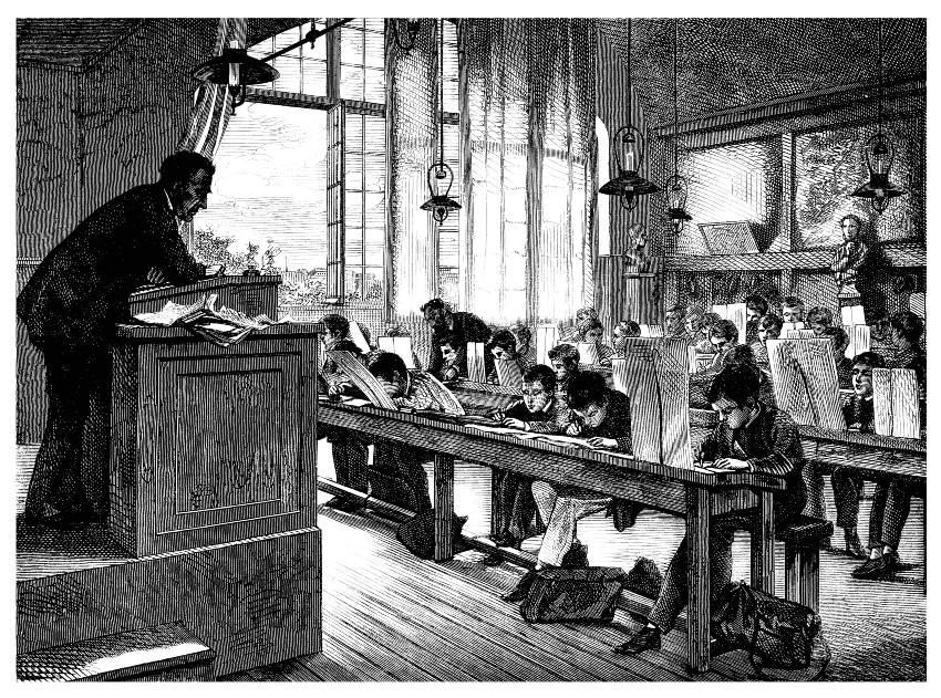 Schüler im 19. Jahrhundert