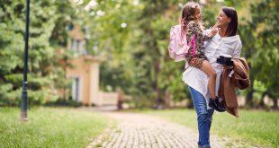 Mutter mit Kind - Originelle Rucksäcke für Kinder