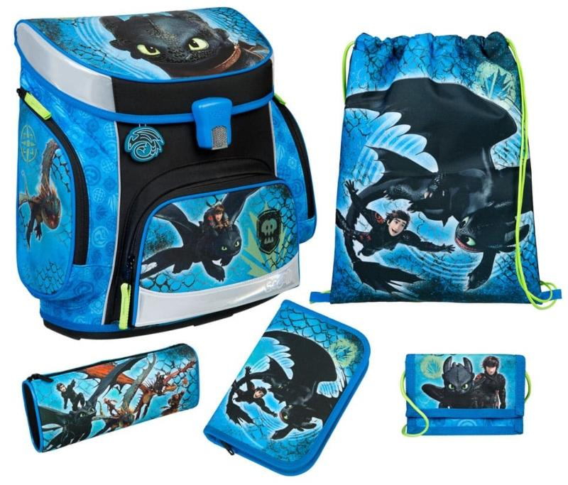 Scooli Campus Fit Pro Schulranzen-Set 6tlg Dragons
