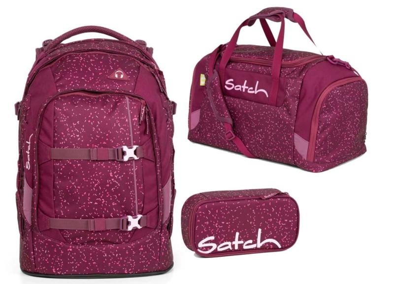 Satch Pack Schulrucksack-Set 3tlg Berry Bash - Schulsporttasche