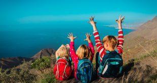 Ausflug Kinder mir Rucksäcken - Backpacks mit zwei Gesichtern
