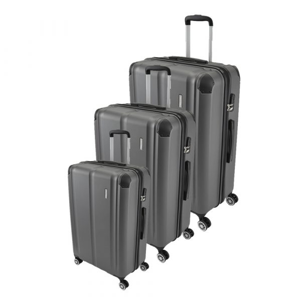 Travelite City 4-Rollen Trolley-Set 3tlg. S-M-L Anthrazit 1