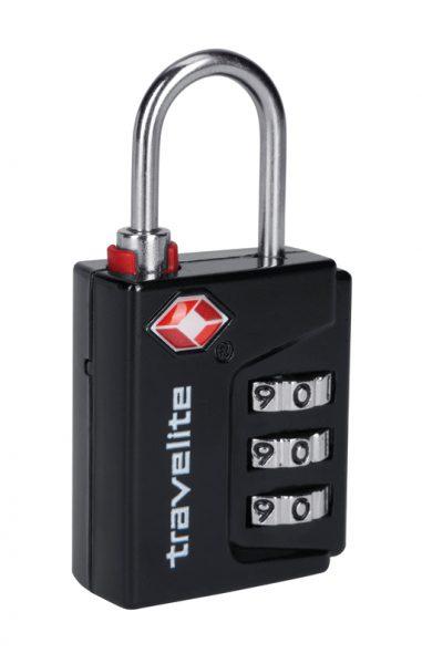 Travelite TSA-Schloss 3er Kombilock TravelSentry Schwarz  1