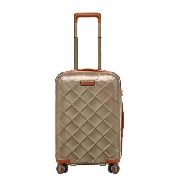 Stratic Leather and More 4-Rollen Trolley S 55 cm Champagner 1