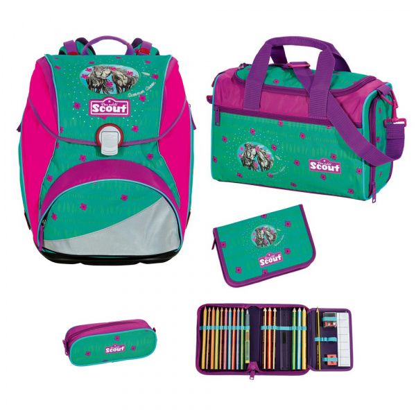 Scout Alpha Schulranzen-Set 4tlg Summer Green 1
