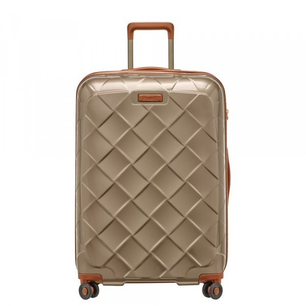 Stratic Leather and More 4-Rollen Trolley L 76 cm Champagner 1