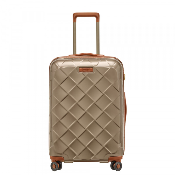 Stratic Leather and More 4-Rollen Trolley M 66 cm Champagner 1